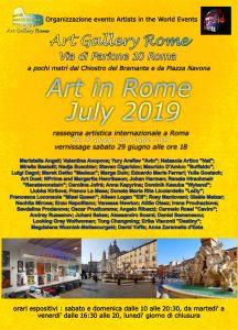 Art in Rome July 2019 locandina-r